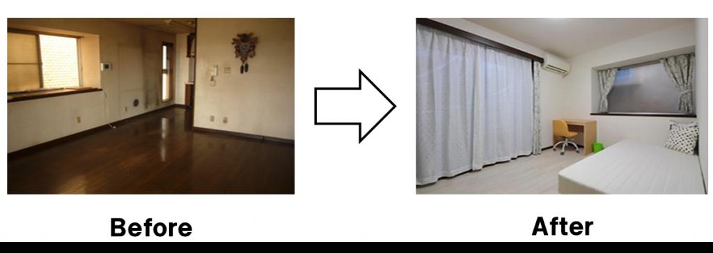 リビングのスペースを個室に改装して有効利用。